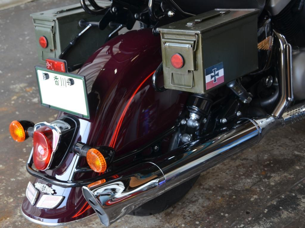 香川県からバイクタンクのデントリペアでご来店、バルカン1500