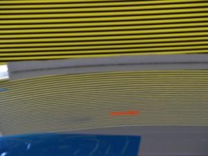 V37スカイライン ルーフ左後部のへこみ修理後