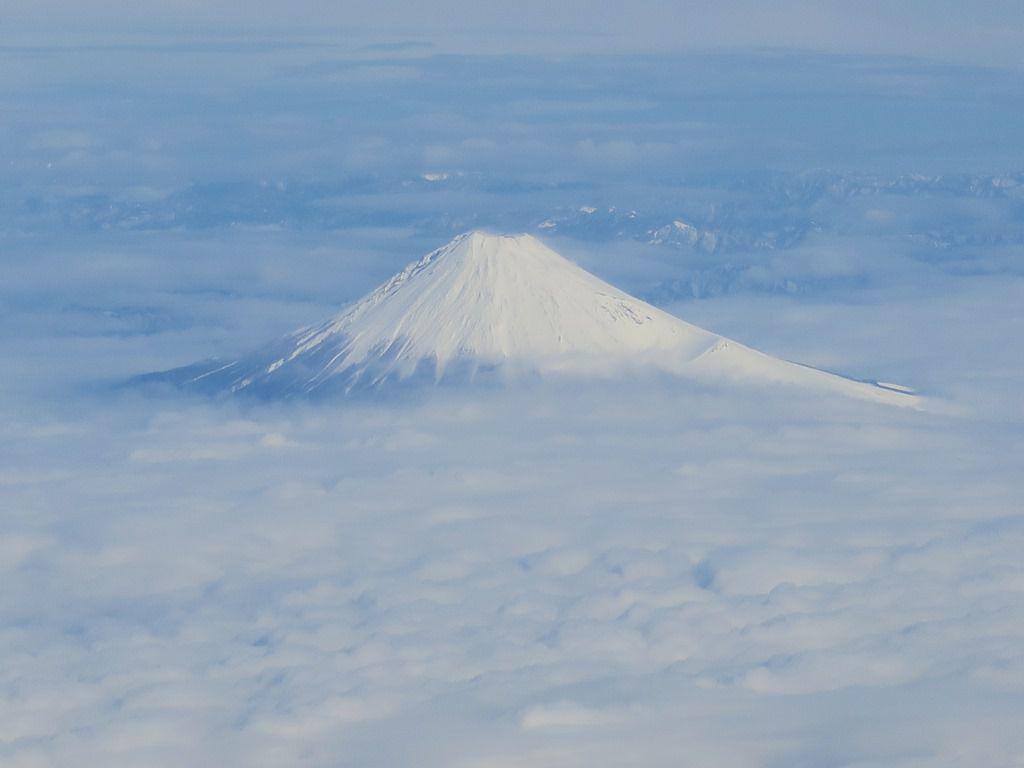 空からの富士山
