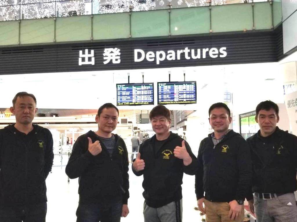 MTE2020出発前に羽田国際空港で記念撮影