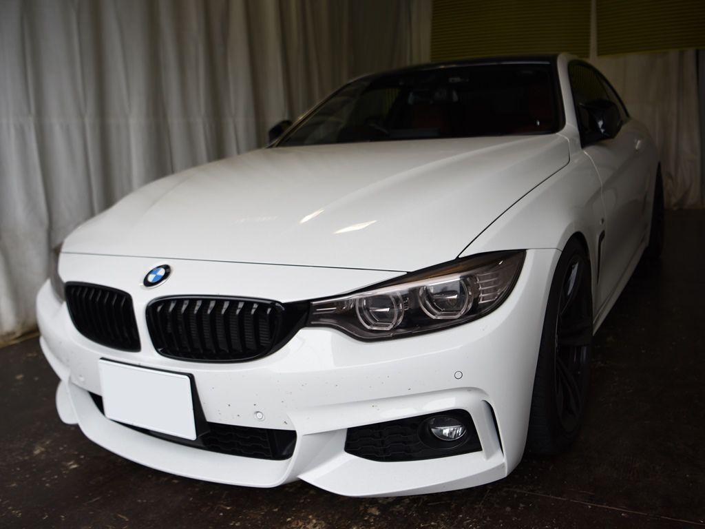 BMW435iクーペ 左ドアデントリペアのご依頼ご来店